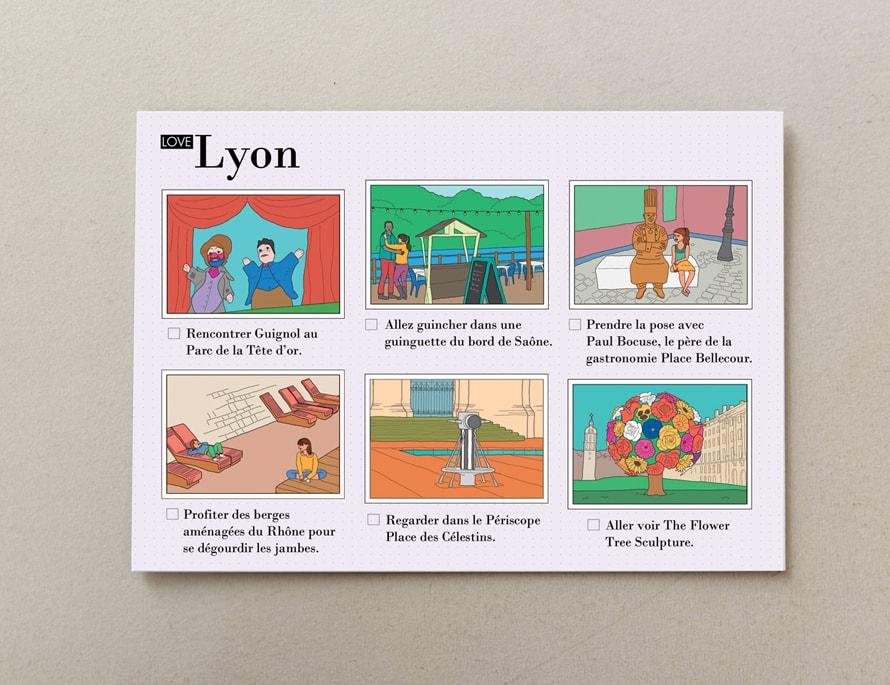 cartes postales illustrées Lyon 3