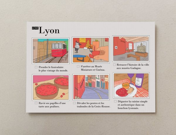 Illustrated postcards Lyon 4