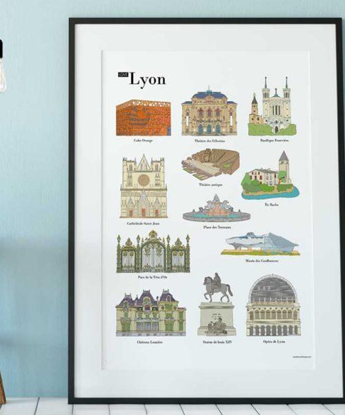 carnet de voyage enfant poster lieux Lyon accueil