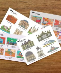 Illustrated postcards Lyon