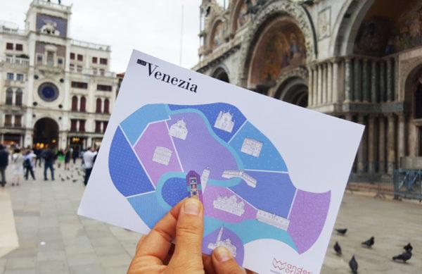 carnet de voyage Venise de WanderWorld autocollants pour enfants