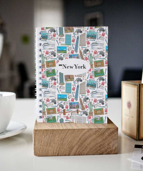original New York mosaic cover spiral notebook