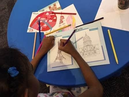 Carnet de voyage enfant et coloriage
