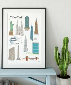 Poster lieux à visiter à New York - G