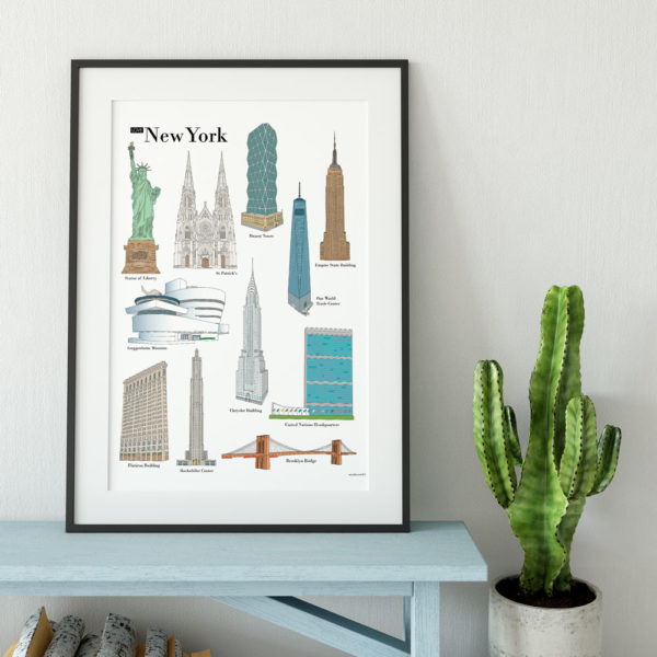 Poster places to visit in New York - G