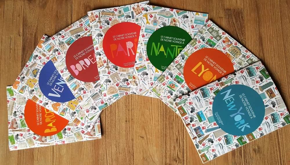 WanderWorld carnet de voyage enfant collection de 7 destinations