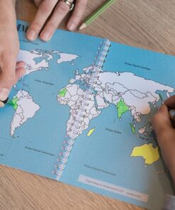 carnet de voyage vierge carte du monde