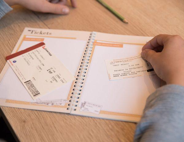 carnet de voyage vierge tickets