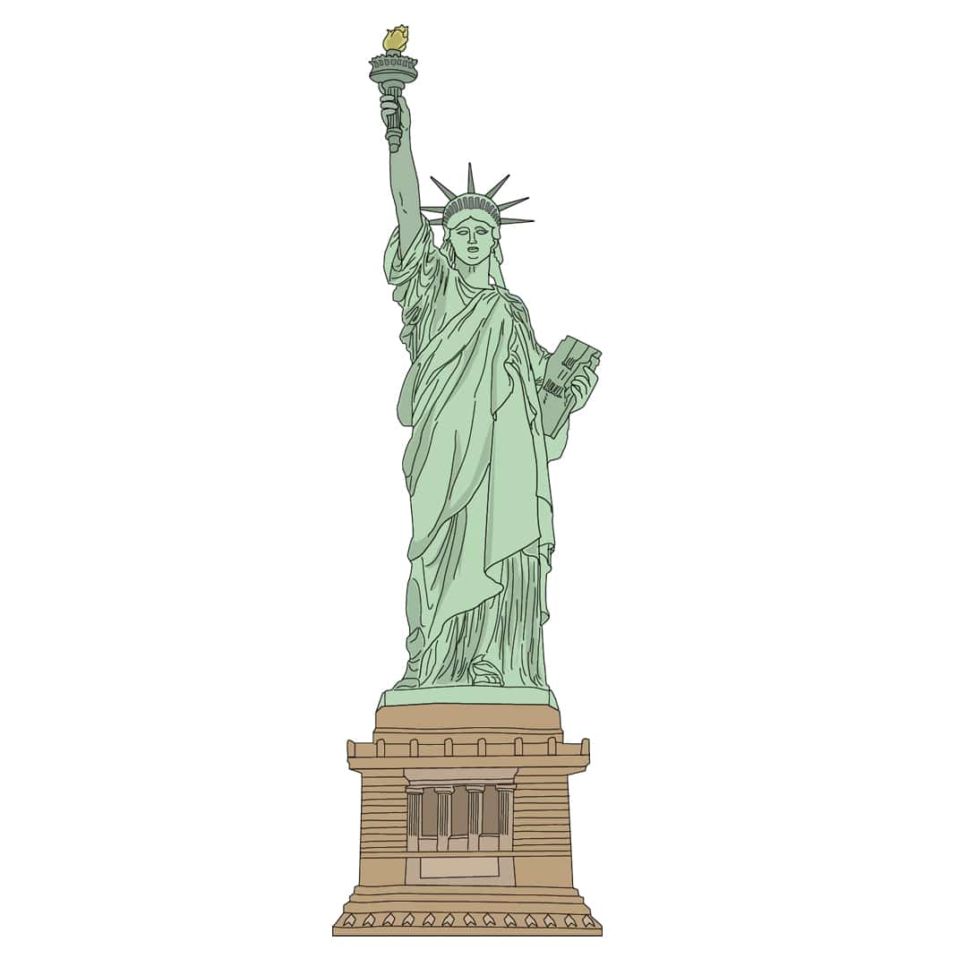 New York family - Statue of Liberty