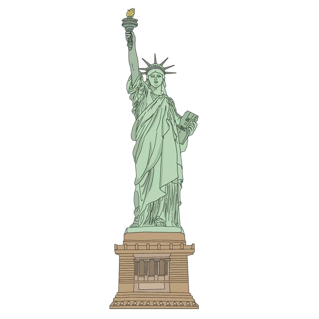 New York en famille - statue de la liberté