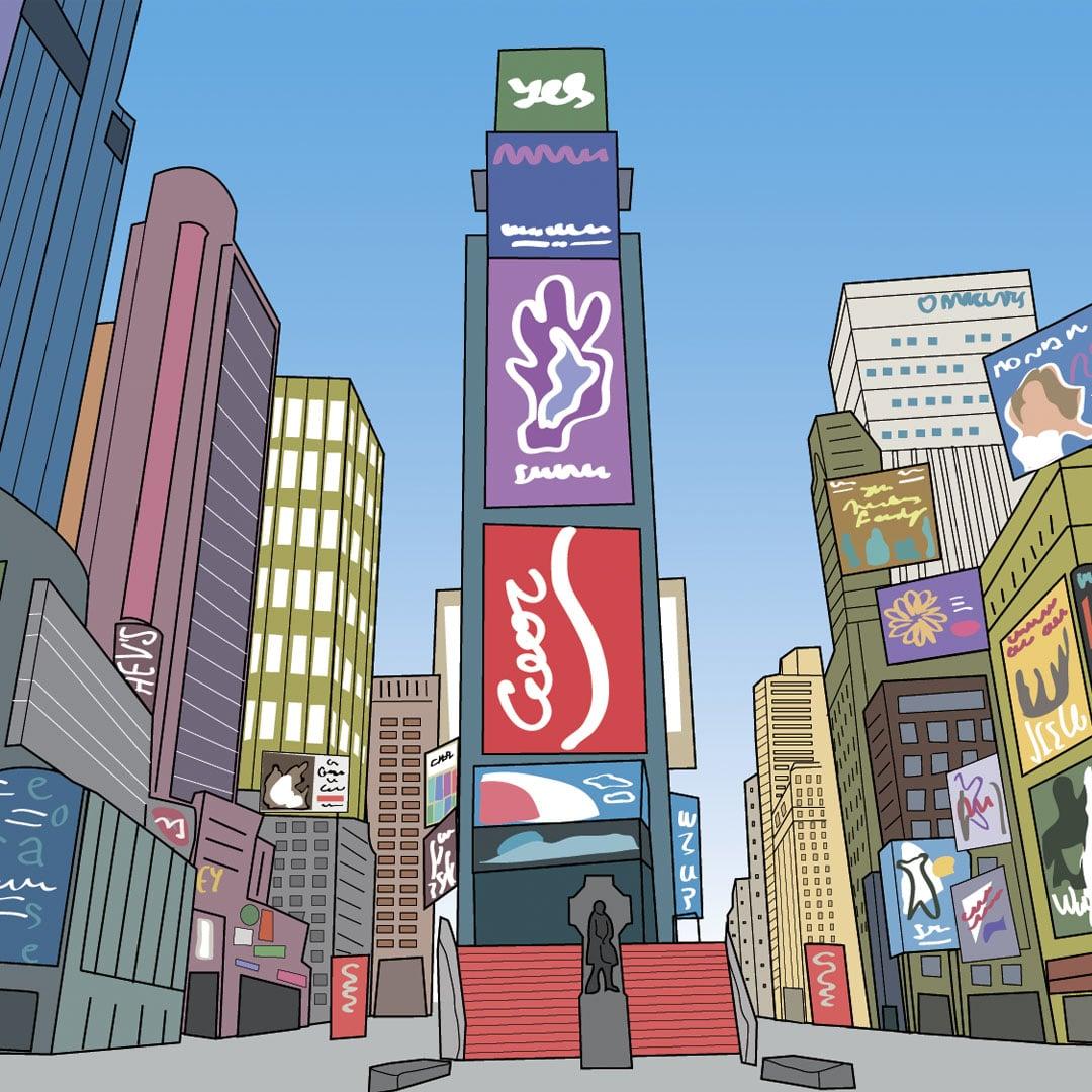 Visiter New York avec les enfants - Time Square