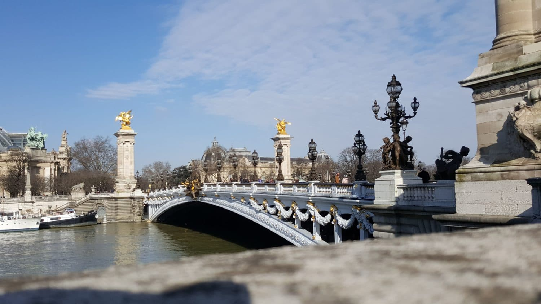 Pont Alexandre III lors d'un week-end en famille à Paris