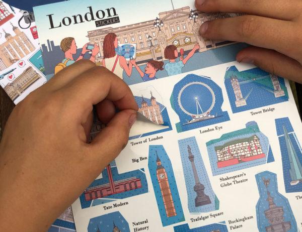 carnet de voyage à Londres de WanderWorld autocollants des monuments