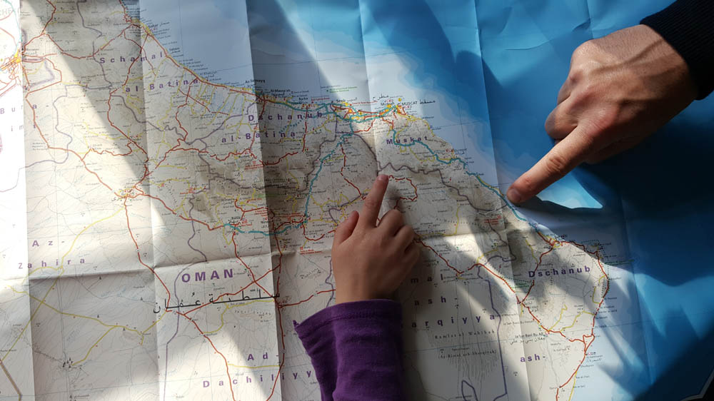 Carte du monde pour un voyage en famille