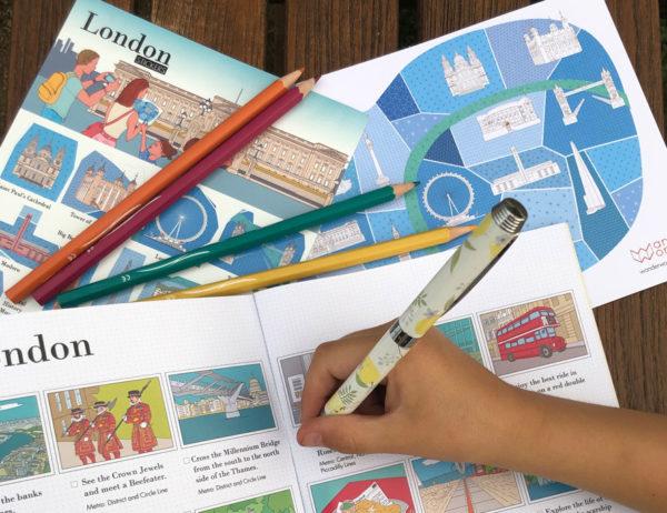 carnet de voyage à Londres de WanderWorld activités à faire en famille à Londres