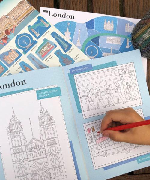 carnet de voyage à Londres de WandeWorld coloriage monuments