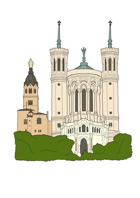 Basilique de Fourvière monument de Lyon
