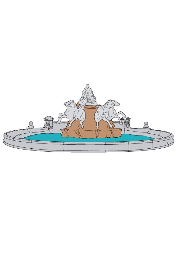 Place des Terreaux de Lyon illustrée par WanderWorld