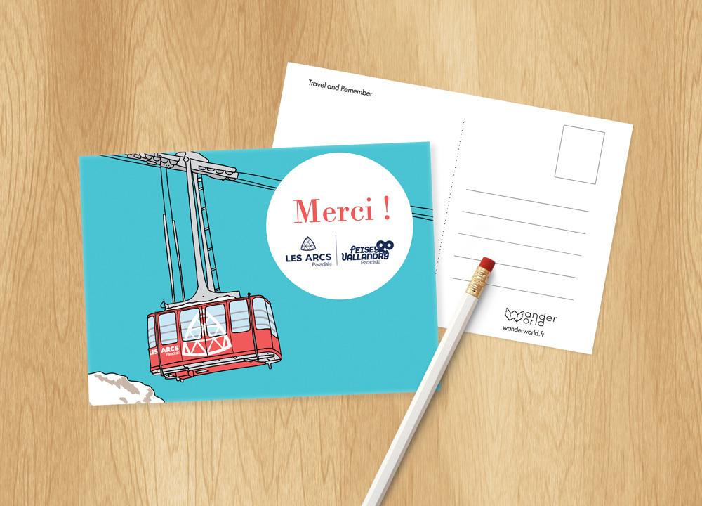 produit d'accueil hotels carte postale personnalisable