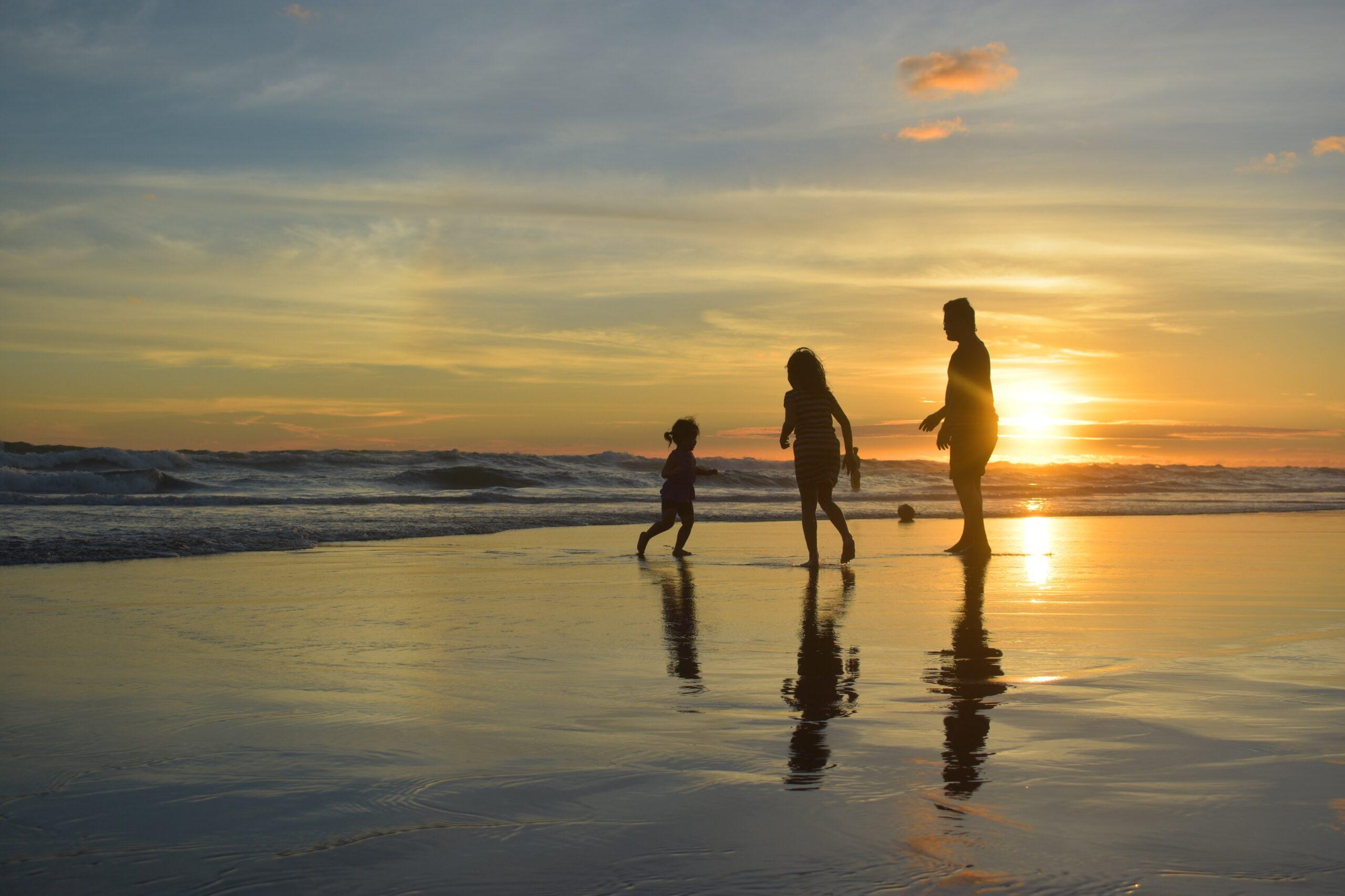 vacances au bord de la mer en famille