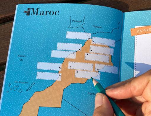 carnet de voyage au Maroc WanderWorldcarte du pays