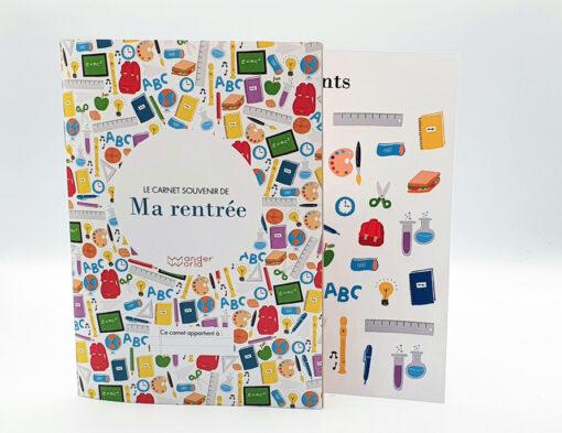 carnet souvenir de la rentrée scolaire pour les enfants crée par WanderWorld